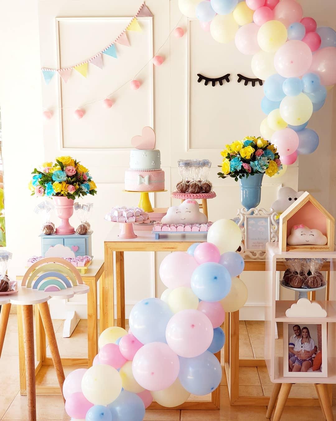 decoracao festa chuva amor simples