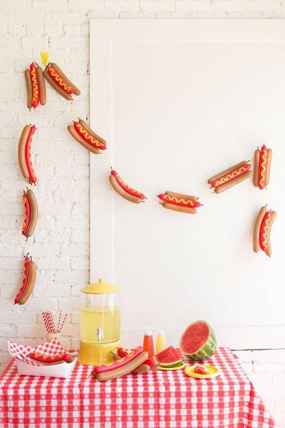 decoracao festa da salsicha painel