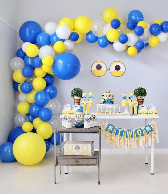 decoracao festa minions baloes
