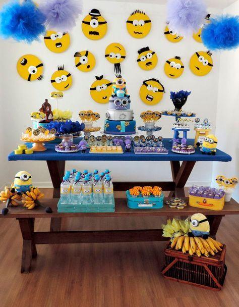 decoracao festa minions simples