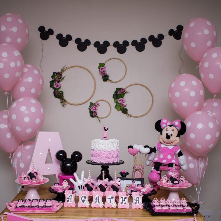 decoracao festa minnie rosa 1