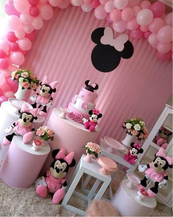 decoracao festa minnie rosa 4