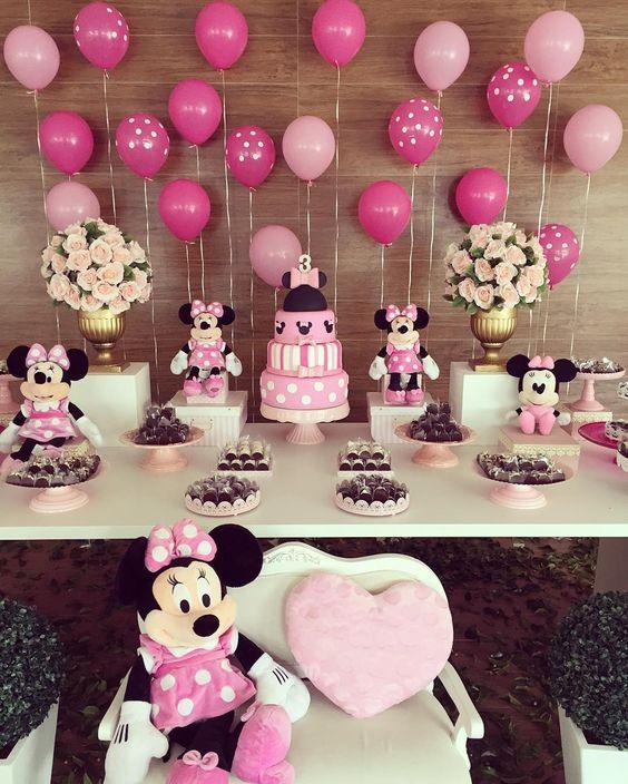decoracao festa minnie rosa 5
