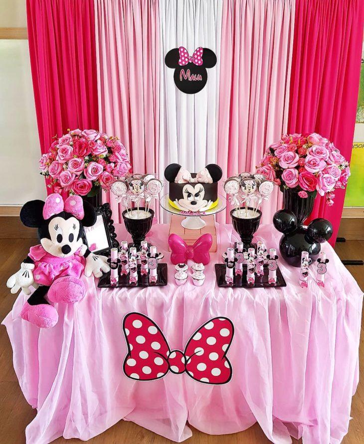 decoracao festa minnie rosa