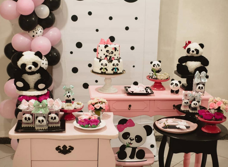 decoracao festa panda rosa inspiracao