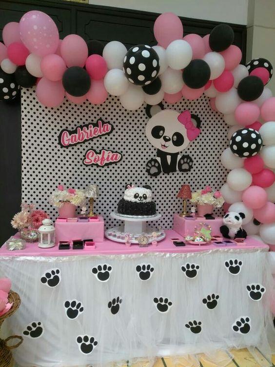 decoracao festa panda rosa