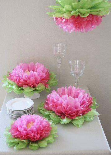 decoracao festa papel crepom flores ideias