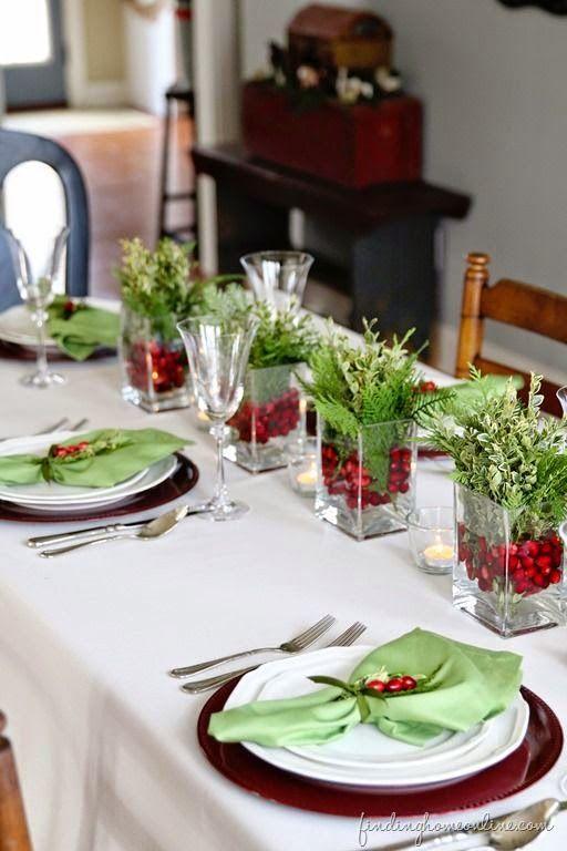 decoracao mesa natal centro mesa