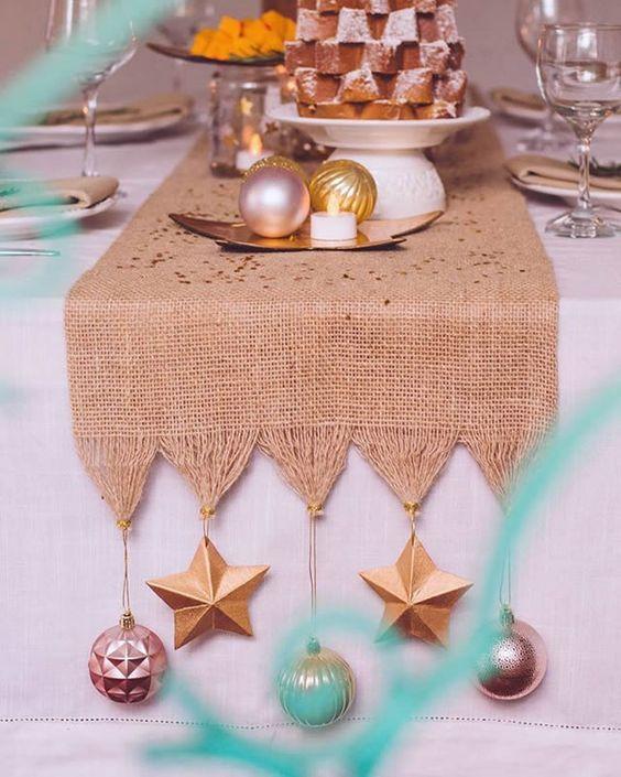 decoracao mesa natal criativa enfeites