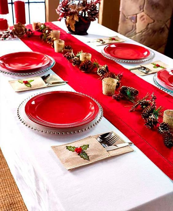 decoracao mesa natal simples criativa
