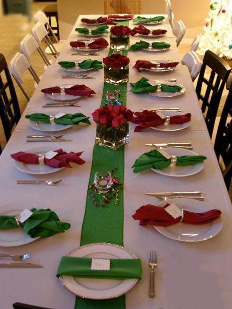 decoracao mesa natal simples vermelho