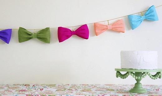 decoracao papel crepom festa 1