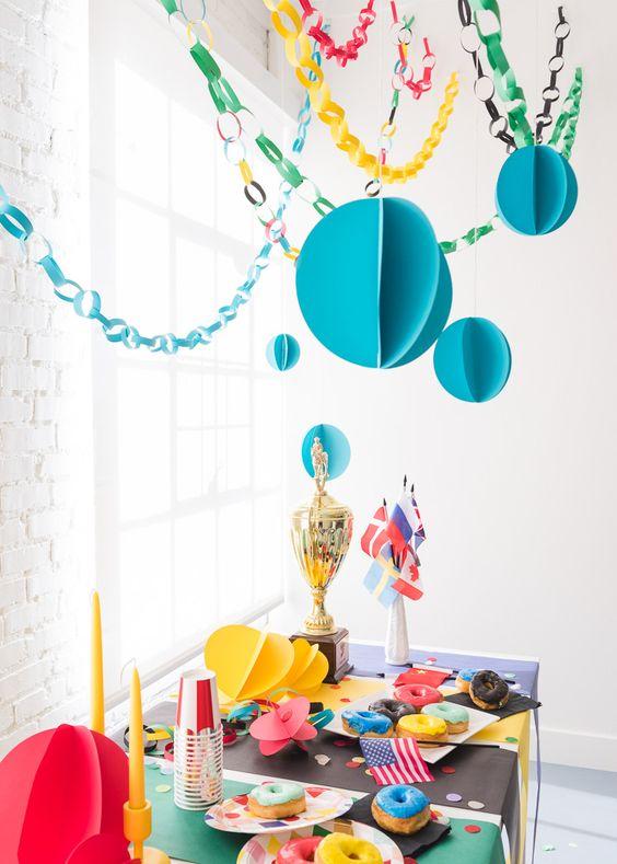 decoracao papel crepom festa 2