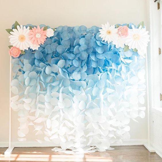 decoracao papel crepom festa flores 2