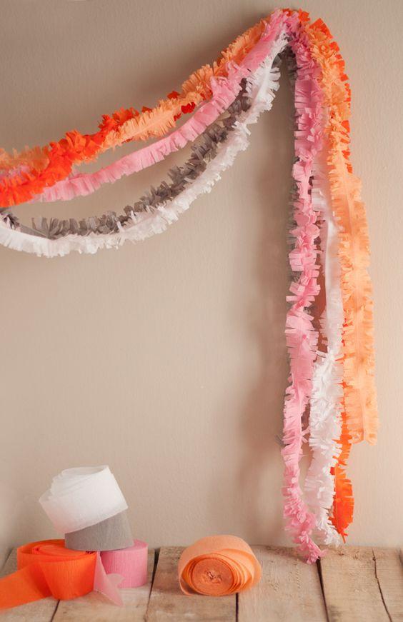 decoracao papel crepom festa ideias 1
