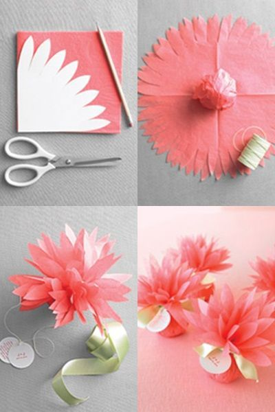 decoracao papel crepom flores diy