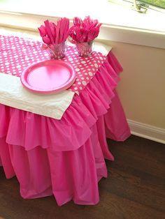 decoracao papel crepom mesa 1