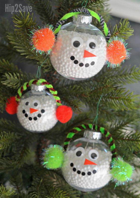 diy bola natal personalizada boneco neve