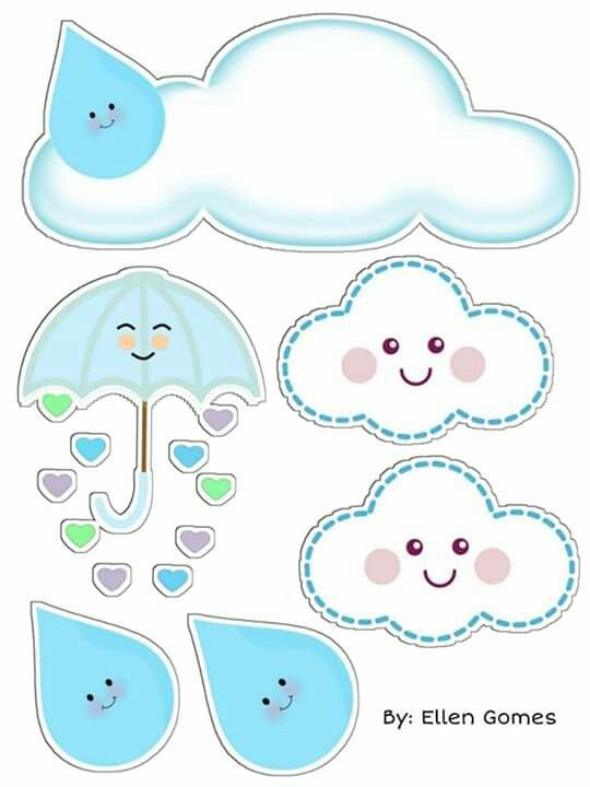 diy decoracao festa chuva amor nuvem