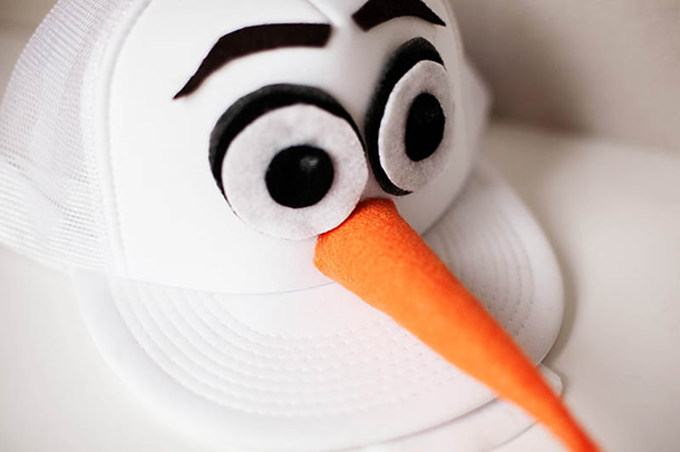 diy festa frozen bone olaf