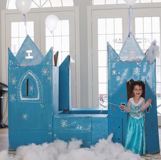 diy festa frozen castelo princesa