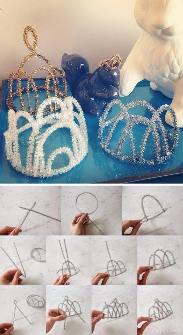 diy festa frozen coroa