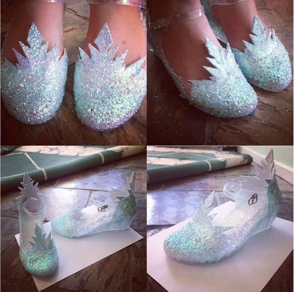 diy festa frozen sapatos gelo