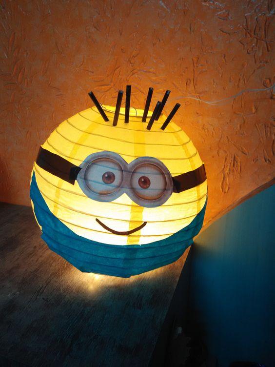 diy festa minions lanterna