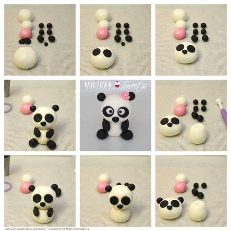 diy festa panda rosa topo bolo