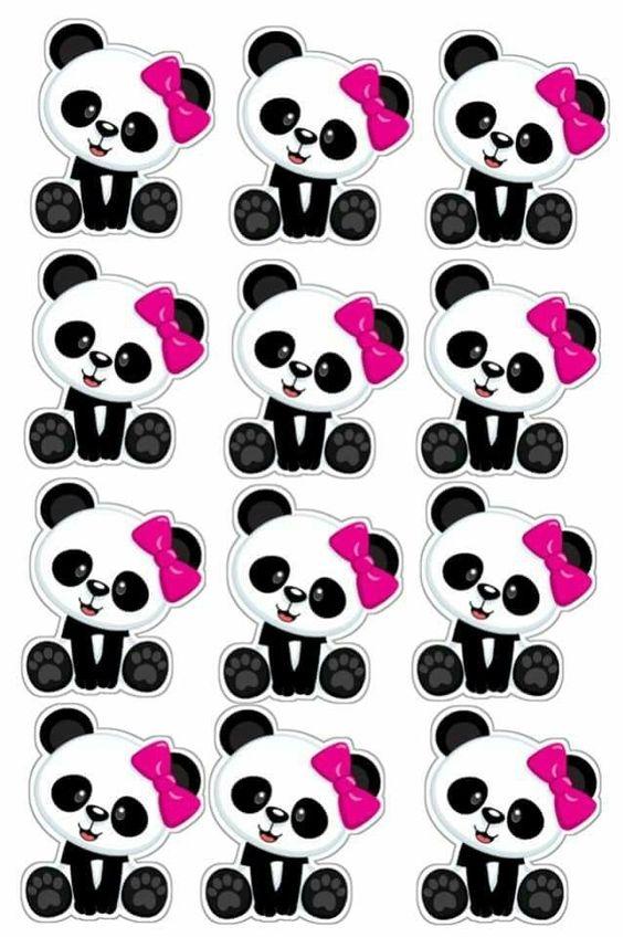 diy festa panda rosa toppers