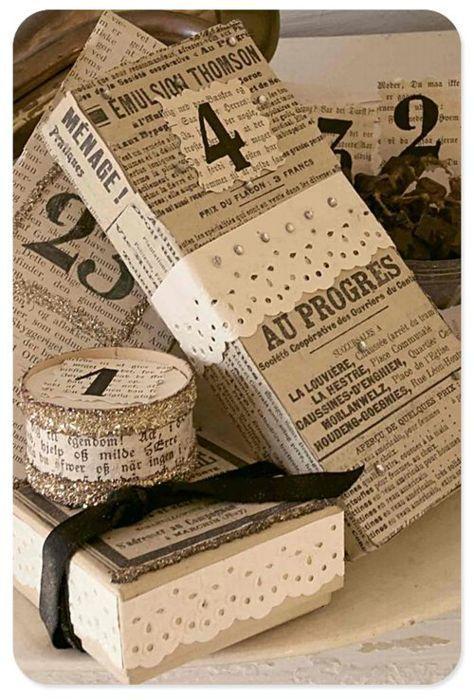 embrulho natal jornal decorado