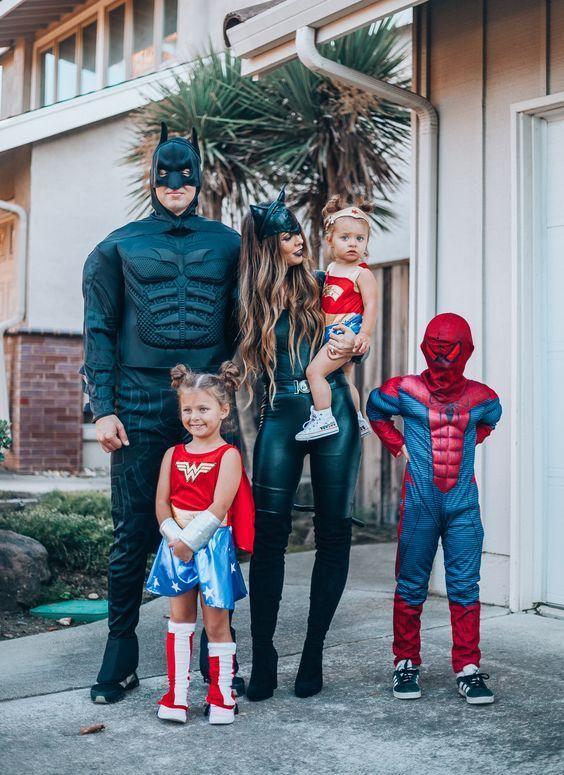 fantasia halloween familia batman