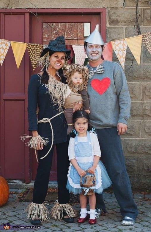 fantasia halloween familia feitceiro oz