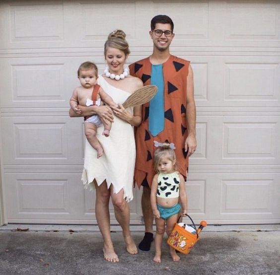 fantasia halloween familia flintstone