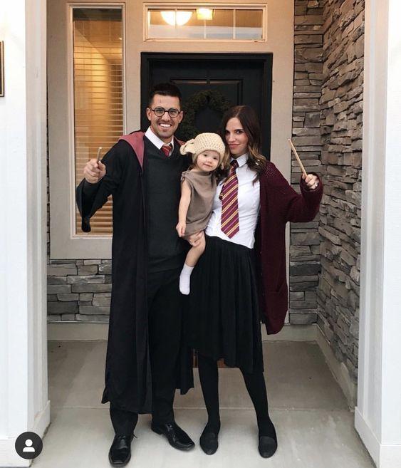 fantasia halloween familia harrypotter