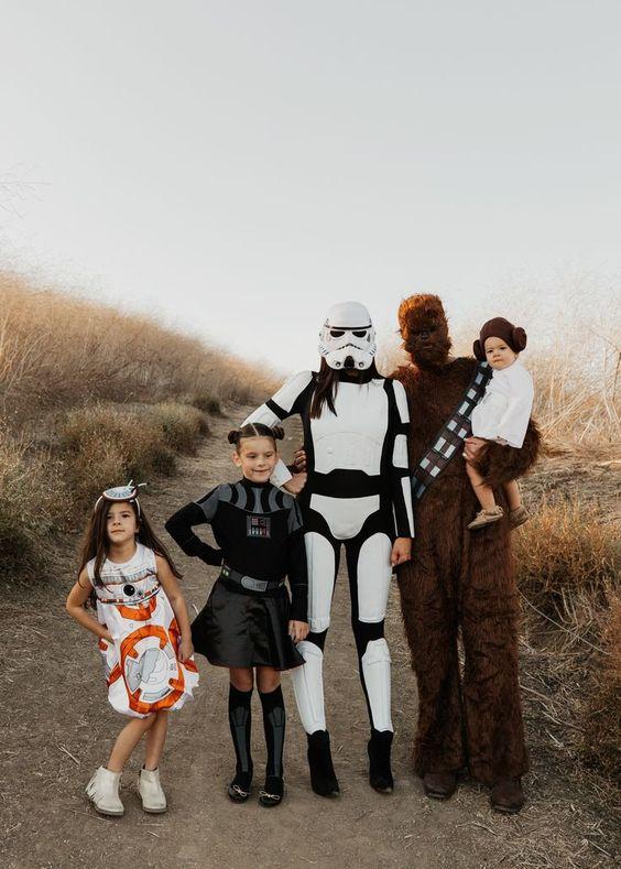 fantasia halloween familia star wars