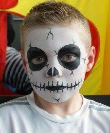 fantasia halloween infantil caveira
