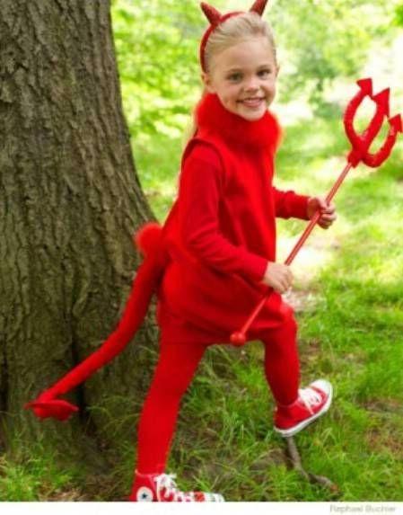 fantasia halloween infantil diabo