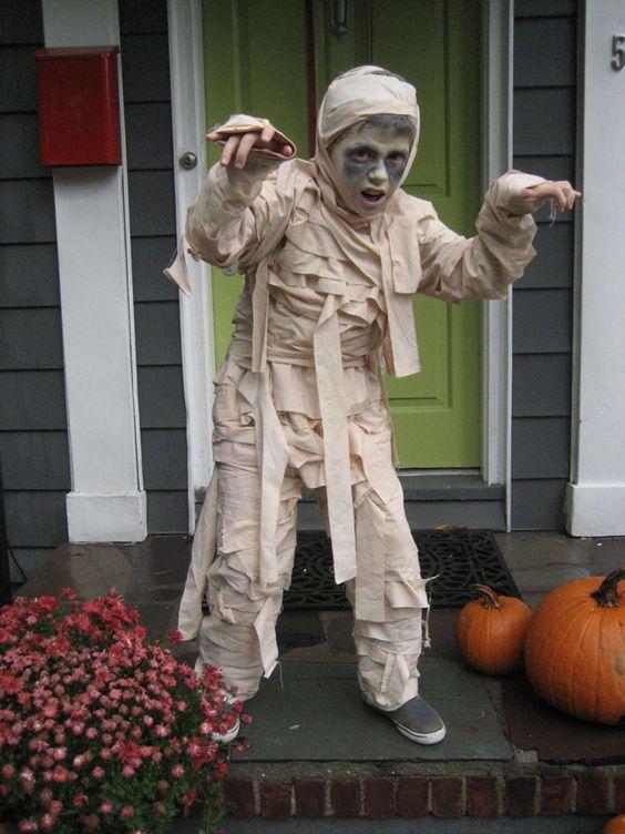 fantasia halloween infantil mumia 1