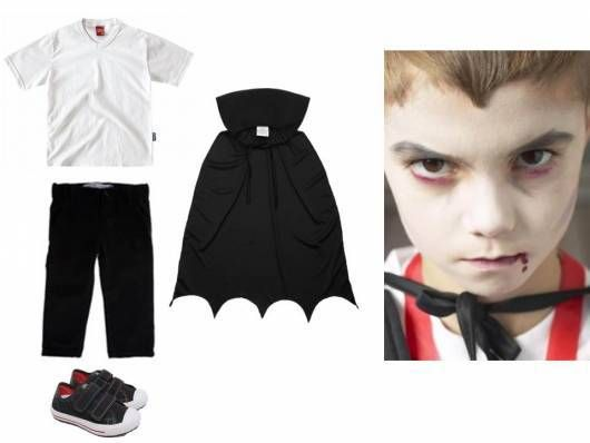 fantasia halloween infantil vampiro