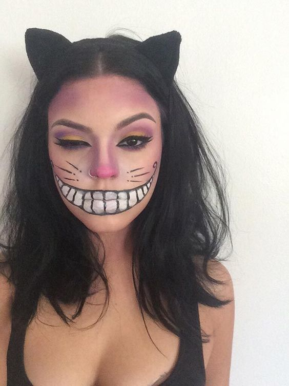 fantasia halloween simples maquiagem