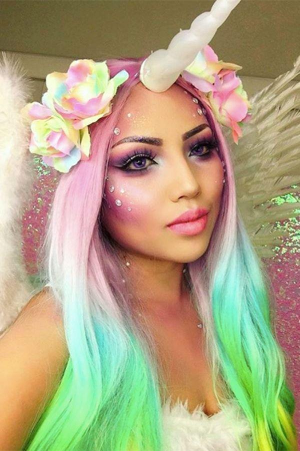 fantasia unicornio carnaval maquiagem 4