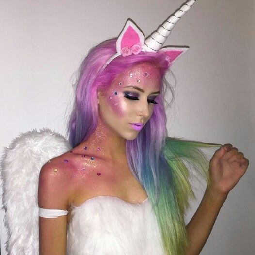 fantasia unicornio carnaval maquiagem