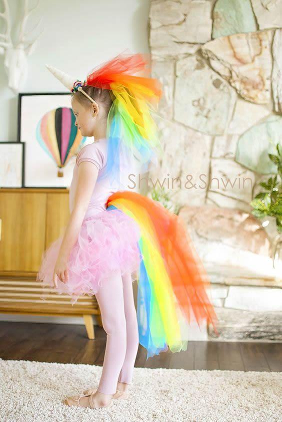 fantasia unicornio carnaval tule