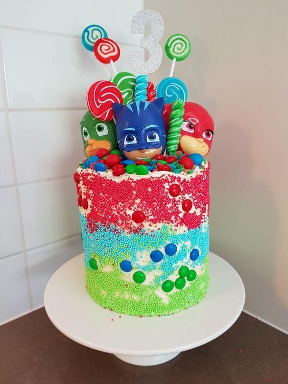 festa PJ masks bolo doces