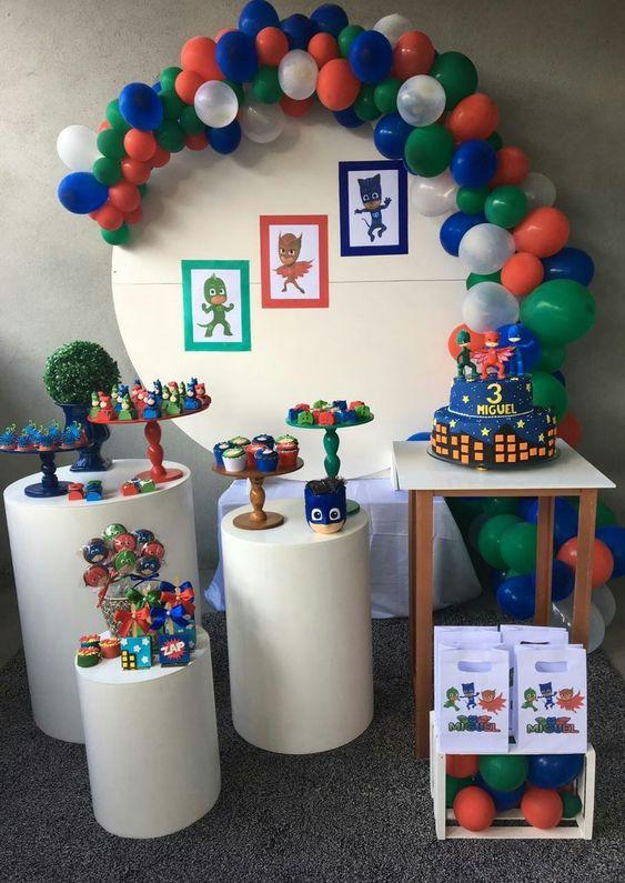 festa PJ masks decoracao