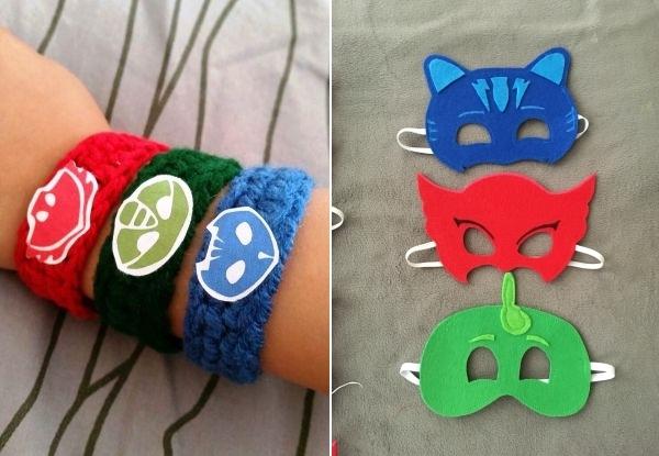 festa PJ masks diy mascaras