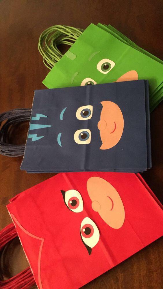 festa PJ masks diy sacolas