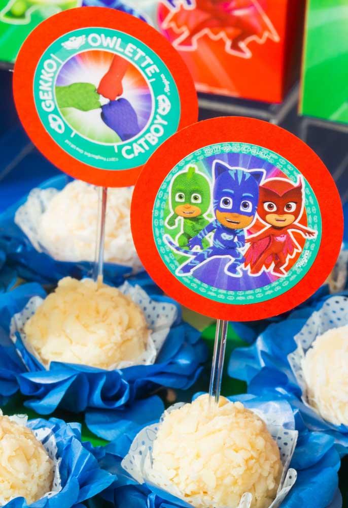 festa PJ masks doces beijinho