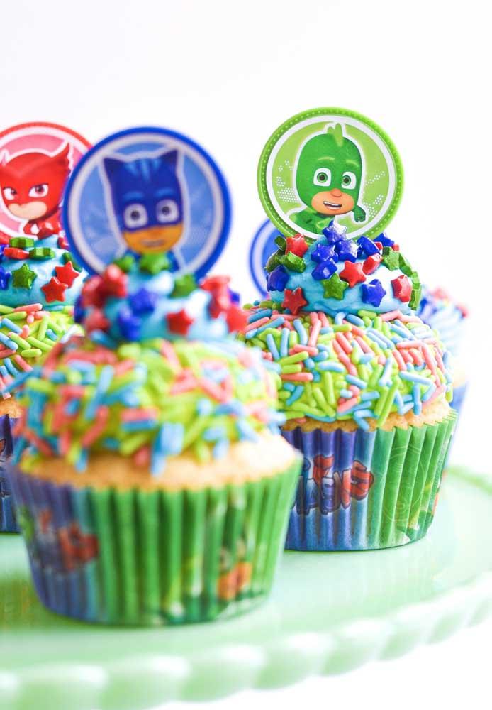 festa PJ masks doces cupcake
